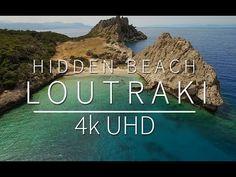 Κρυφή παραλία στο Λουτράκι | Hidden beach in Loutraki | Παραλία Στέρνα Hidden Beach, Something Interesting To Read, 4k Uhd, Athens, Greece, Places To Visit, Around The Worlds, Travel, Youtube