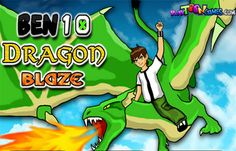 Ben 10 Dragon Blaze game. Adding to the supernatural powers of Ben 10 and the Omnitrix is the strength of a flying dragon who'll launch balls of fire at the enemies trying to annihilate our favorite superhero.