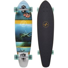 Globe Skate Strange Rumblings Longboard Skateboard Resin Blue ($150) ❤ liked on Polyvore featuring clearwater