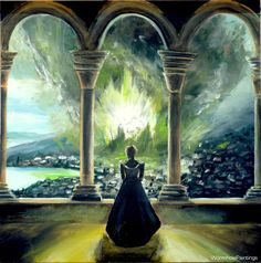 Queen's Revenge: Epic Digital Painting of Cersei's Season 6 Scene by WormholePaintings