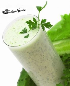 Belly Flattening & Weight Loss Veggie Smoothie | Flush Bloat & Waste from Colon with Fiber & Potassium | For MORE RECIPES please SIGN UP for our FREE NEWSLETTER www.NutritionTwins.com