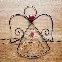 Drátování / Domov | Fler.cz Wire Art, Pendant Jewelry, Christmas, Design, Wire, Yule, Xmas, Christmas Movies, Design Comics