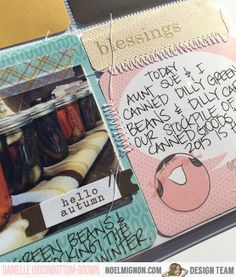 NoelMignon.com Layouts and Projects: Documenting Thanksgiving with the Golden Delicious Daily Diary Kit!