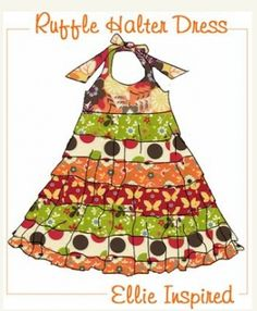 Ruffle Halter Dress free pattern + tons of other cute, free patterns