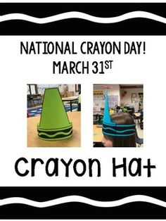 Here's a fun, freebie for National Crayon Day on March 31st! Print out on colored paper or have students color their favorite color! Crayon Themed Classroom, Classroom Crafts, Classroom Themes, Classroom Activities, Crayon Book, Crayon Days, Book Character Day, Character Dress Up, Storybook Character Costumes