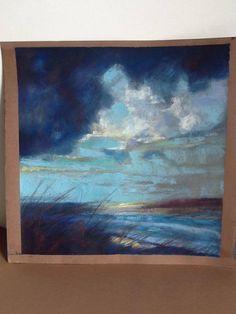 Pastel landscape on card. - Made WILD on FB