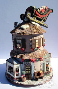 Waiting for Santa Claus - Cake by Angela Penta