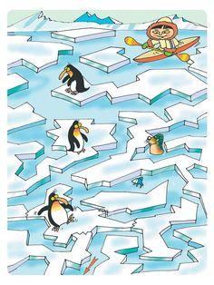 Esquimal y pinguinos