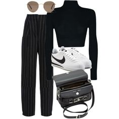 A fashion look from July 2017 featuring Maiyet pants, NIKE sneakers and Proenza Schouler shoulder bags. Browse and shop related looks.