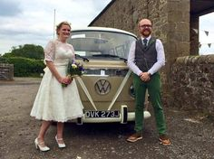 Congratulations to Ben and Catherine married at High House Farm Brewery, Matfen www.vwdeluxeweddings.co.uk Chauffeur driven VW Campervan wedding hire in Northumberland, Tyne and Wear and Durham