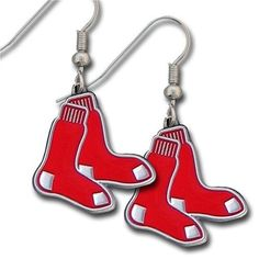 I want these!!  http://cheune.com/store MLB Boston Red Sox Dangle Earrings