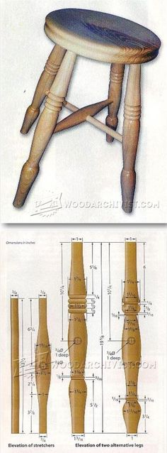 Woodturning Stool - Woodturning Projects and Techniques | WoodArchivist.com