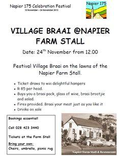 Join in the Napier Village Braai on Sunday ...