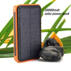 2015 New 30000mah Waterproof solar power bank bateria externa solar charger powerbank for all mobile phone for pad Fast shipping-in Power Bank from Phones & Telecommunications on Aliexpress.com | Alibaba Group