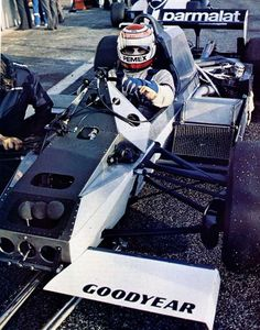 1982. Nelson Piquet sitting in his ground effect Brabham BT50.