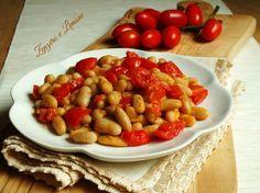 Fagioli+cannellini+e+pomodorini,+ricetta+velocissima