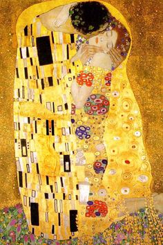 The Kiss by Klimt- This piece is so special to me because it's the piece of art my sister left me when she passed. It's hanging in my living- room. I love you Sherrie Lynn. Gustav Klimt, Alphonse Mucha, Tattoo Chest And Sleeve, Jules Cheret, Art Nouveau Poster, Art Drawings For Kids, Artists For Kids, Cultura Pop, Cute Wallpapers