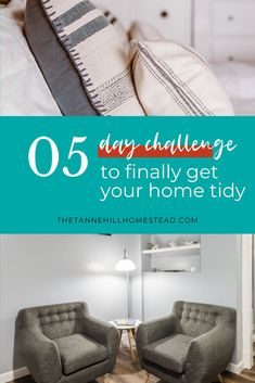 Are you tired of coming home to a cluttered home? If so, let's change that with this FREE 5 day tidy home challenge! #tidyhome #tidyhomechallenge #declutter #decluttering #organization #organized #organizedhome Declutter Your Home, Organizing Your Home, Simple House, Simple Living, Home Organization, Live With Purpose, Decluttering Ideas, Clutter Free Home, Challenges