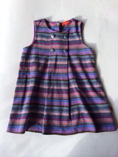 Abito GALLO; 2-3 anni; 45€ http://hipmums.it/products/abito-scamiciato-in-cotone-pesante-millerighe