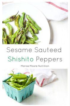 Sesame Sautéed Shishito Peppers via  @marisamoore (Marisa Moore Nutrition)