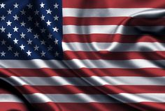 USA, United States of America, Satin, Flag