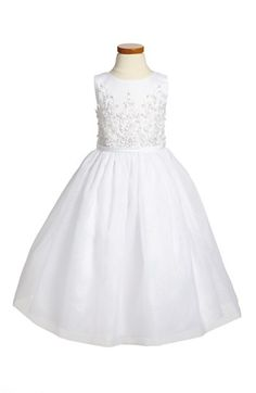 Joan Calabrese for Mon Cheri Communion Dress (Little Girls & Big Girls) available at #Nordstrom