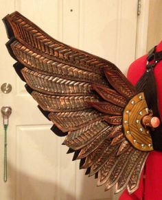 Men's Hand Tooled Leather Icarus Costume by WeatheredMist on Etsy, $850.00