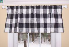 Drapery Panels, Valance Curtains, Buffalo Check Curtains, Premier Fabrics, New Kitchen Cabinets, Farmhouse Decor, Farmhouse Style, Kitchen On A Budget, Home Decor Fabric
