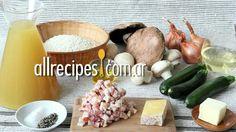 Risotto de hongos, panceta y zucchini