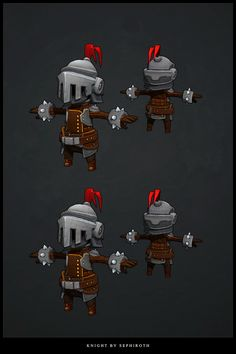 Knight low poly 3D by Sephiroth-Art.deviantart.com on @deviantART
