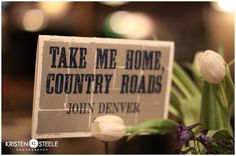 i love this idea for centerpieces.. country music themed...