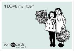 """I LOVE my little!""  #sorority #greek http://somethinggreek.com/shop"