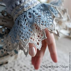 New Crochet Lace Gloves Pattern Inspiration Ideas Crochet Gloves Pattern, Crochet Lace Edging, Crochet Jacket, Irish Crochet, Crochet Stitches, Knitting Patterns, Crochet Patterns, Knit Crochet, Crocheted Lace