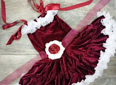 Adorable Girls Velvet Red Petti Dress With by AdalynsBoutique Christmas Dresses For Tweens, Toddler Christmas Dress, Girls Christmas Dresses, Holiday Outfits, Girls Party Dress, Toddler Girl Dresses, Girls Dresses, Velvet, Trending Outfits