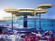 Ocean Technology Unveils Plans for Their Insane Underwater Discus Hotel in Dubai. Underwater Discus Hotel in Dubai designed by Deep Ocean TechnologyUnderwater Discus Hotel in Dubai designed by Deep Ocean Technology Dubai Hotel, Hotel Subaquático, Dubai Uae, Visit Dubai, Dream Vacations, Vacation Spots, Dubai Vacation, Tourist Spots, Places To Travel