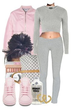 """""""Untitled #556"""" by b-elkstone ❤ liked on Polyvore featuring Topshop, Victoria's Secret, Urban Decay, MAC Cosmetics, Louis Vuitton, TNA, adidas, women's clothing, women's fashion and women"""
