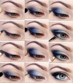Blue smokey eye para el día | Mujer al natural
