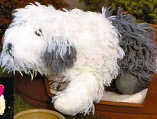 """Vintage Toy Knitting pattern-how to make a cute old english sheepdog DK-15"""" high"""