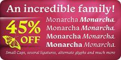 Monarcha (45% discount, from 17,60 €) - http://fontsdiscounts.com/monarcha-45-discount-1760-e/