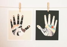 The Something Hand and The Nothing Hand, art print combo 8x10, west elm local