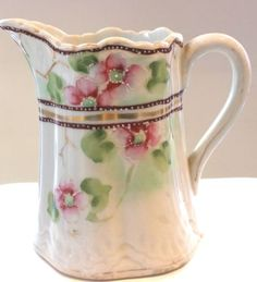 Vintage Hand Painted Creamer Pitcher Made In Japan
