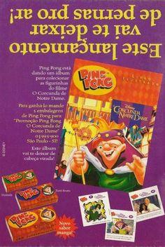Álbum de Figurinhas Ping Pong O Corcunda de Notre Dame 1996 #nostalgia #anos90