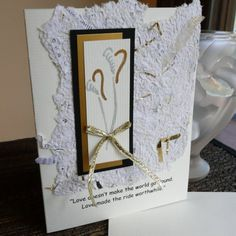 Handmade Wedding or Anniversary Card with Quote and by bbesigns, $4.00