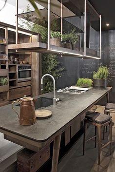 Cozinhas com Bancadas de Concreto - Design Innova