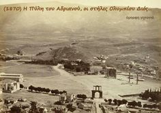 Αθηνα 1870 Greece Pictures, Old Pictures, Old Photos, Vintage Photos, Athens History, Greek History, Old Greek, Greek Isles, Urban City