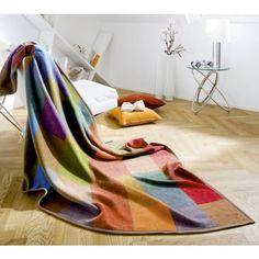 Wohndecke Colourmix Farbenfrohe Sofadecke mit Farben der Saison in modernem Karomuster aus 100% Baumwolle.
