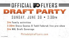 Family Fun Day & Official Flyers NHL Draft Party Philadelphia, PA #Kids #Events