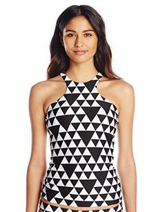 Seafolly Women's Costa Maya High-Neck Tankini