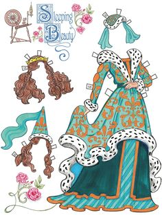FAIRY TALE PRINCESS ֍ Paper Dolls Costumes 1 ֍ SAMPLES  by Eileen Rudisill Miller Welcome to Dover Publications
