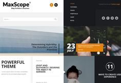 #WordPress #Theme with a Unique and flexible layout. Excellent for your portfolio! http://lovew3design.com/portfolios/max-scope-wordpress-theme/